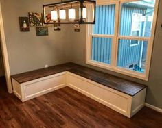 Banquette Corner bench, kitchen seating, L shaped bench, breakfast nook