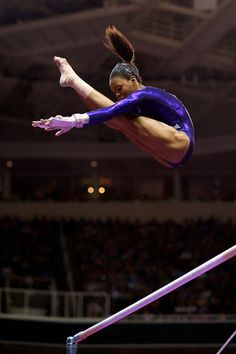 Gabby Douglas. Look at that girl fly.