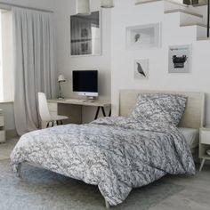 Krepové povlečení bílé šedé ornament orient zdobné Comforters, Couch, Blanket, Bed, Furniture, Design, Home Decor, Chair, Creature Comforts