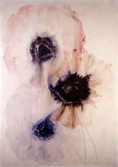 Lourdes Sanchez, 3 anemones #2 2014, watercolor