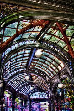 The Pergola Ceiling in Pioneer Square; photograph by David Patterson. Seattle