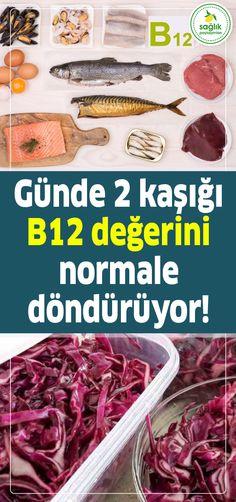 #b12 #beslenme #sağlıklıbeslenme #diyet #sağlık Red Cabbage, Herbalism, Food And Drink, Healthy, B 12, Aspirin, Health And Beauty, Losing Weight, Health