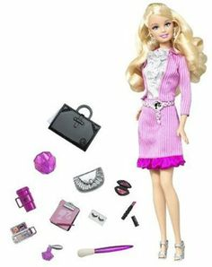 Barbie Fab Girl Doll by Mattel. $24.99. Doll Fashion intern by day, fashionista by night!. Girls can apply color-change makeup with an applicator. Pull the gems on Barbie dolls hairstyle to create a fabulous updo. The fashion portfolio reveals an exclusive code for girls to unlock Barbie dolls world online.. Doll comes with a texting device so that Barbie can stay connected. From the Manufacturer                BARBIE Doll BARBIE FAB GIRL Doll Fashion intern by day,...