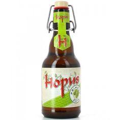 Cerveja Hopus Primeur 2014, estilo Belgian IPA, produzida por Lefebvre, Bélgica. 8.3% ABV de álcool.
