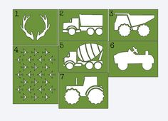 Use these custom Boys Themed Stencils to paint on onesies, bibs, bags, burp cloths and more! Leave the mother to be with something she can use! The perfect baby shower activity! The stencils are plastic and can be used multiple times. Your stencils will arrive clear (the stencils pictured above were painted green to show the shapes clearly). This set includes 17 boy inspired stencils. The average size of the stencil (including the outside of the shape) is 5.3 x 5. I will also include…