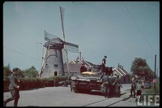 Panzer III at the village of Rijsoord, Netherlands. This was probably taken on or about 15 May, 1940, on which date the bulk of the Netherlands Army surrendered to the Germans, in part due to general military necessity, and in part to try to prevent the Luftwaffe from launching a large bombing raid on Rotterdam. The latter effort of course failed, resulting in the destruction of a large part of the city by fire the result of a total screw-up on the German side, in my opinion.