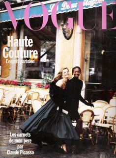 Cordula Reyer & Naomi Campbell, Vogue Paris, February 1989. Photo Peter Lindbergh