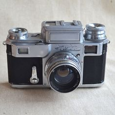#Kiev 4 1955 Contax Copy #Soviet Camera With Yupiter-8 And Brown #Leather Case, Vintage Camera, 35mm Film Camera, #Vintage Collectibles