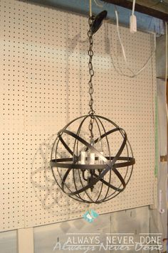 Easy and inexpensive DIY orb chandelier | Orb chandelier ...