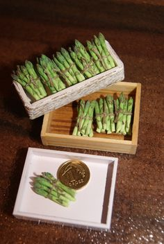Asparagus (dollhouse: Miniature food - vegetables)
