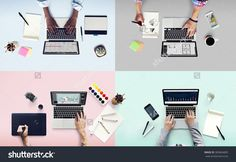 Colleagues Busy Working Laptop Office Concept Stock Photo 383664805 : Shutterstock