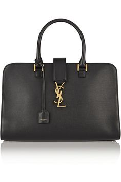 SAINT LAURENT  Sac à main en cuir Monogramme Cabas Medium