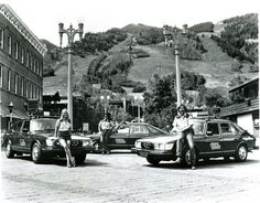 Police in Aspen, CO drove Saabs in 1978 because Starsky and Hutch's Torino didn't manage too well in 6 inches of freshly fallen powder. (Photo courtesy of the Aspen Police Dept) Red Audi, Ski Mountain, Saab 900, Aspen Colorado, Police Cars, Police Vehicles, Dream Machine, Street View, America