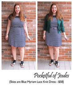 Stitch Fix Review - Skies are Blue Myriam Lace Knit Dress - Pocketful of Joules