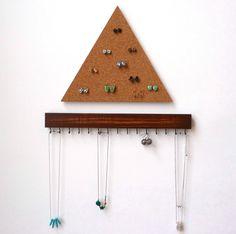 Combination set necklace holder earring holder earringstuds