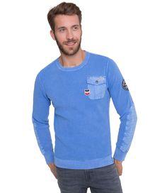 Svetr v barvě air blue Camp David, Aviation, Men Sweater, Long Sleeve, Sleeves, Sweaters, Mens Tops, T Shirt, Blue