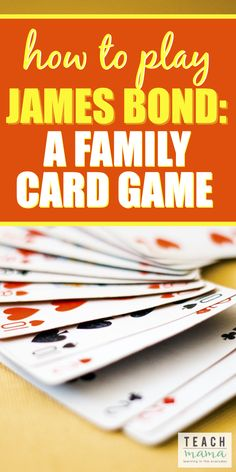 Looking for fresh ideas for family game night? Ever heard of the James Bond card game? Find out how to play the super fun James Bond card game with your family! fun family How To Play James Bond: A Family Card Game Family Card Games, Fun Card Games, Card Games For Kids, Playing Card Games, Family Activities, Summer Activities, Therapy Activities, Family Fun Night, Night Kids
