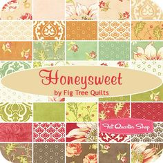 Honeysweet Charm PackFig Tree Quilts for Moda Fabrics | Fat Quarter Shop