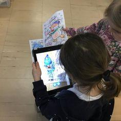 """Daghem Viktoria on Instagram: """"🐘LUCKA 9: Quiver I dagens lucka dök appen Quiver upp. Barnen får färga specifika färgläggningsbilder och sedan använda lärplattan för att…"""""""