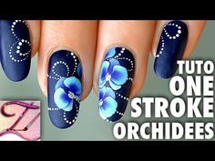 Vidéo – Nail art orchidées bleues en One Stroke | Tartofraises