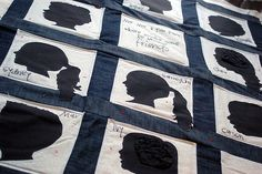 Silhouette Quilt: Wouldn't this be a darling Christmas present for a grandma with all her grandkids' silhouettes? :)