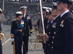 The Princess Royal has been at a parade at Dartmouth's Britannia Royal Naval College. 14.04.2016.