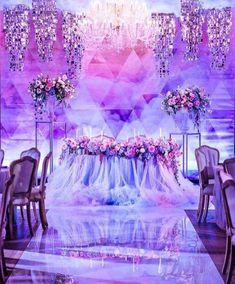 Оформление свадьбы в сиреневых тонах