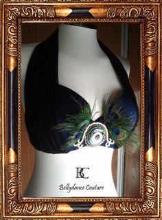 Bellydancing clothes Black & blue bird top by BellydanceCouture, €43.00