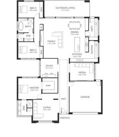 California House - Lares Homes Best House Plans, Dream House Plans, House Floor Plans, California Homes, California Apartment, French Country House Plans, House Ideas, Home Design Floor Plans, Weekend House