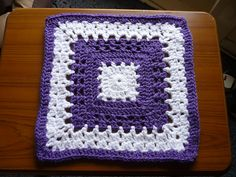 """Ravelry: Project Gallery for Bright and Cheery Square pattern by Dayna Audirsch 12"""" ~ free pattern"""