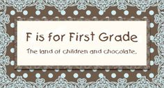 First Grade blog....gotta start getting my head around teaching Grade 1 next year!