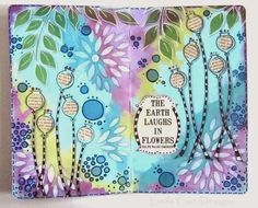 Journal Page { with Eclectica³ Lin Brown Stamps and Stencils by Linda Cain} (via Bloglovin.com )