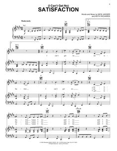 Rolling Stones I Can't Get No Satisfaction sheet music, piano notes, chords Sheet Music Direct, Sheet Music Notes, Digital Sheet Music, Music Sheets, Saxophone Sheet Music, Piano Music, Soft Rock Music, Rolling Stones Songs, Learn Acoustic Guitar