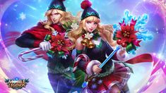Lancelot and odette : christmas carnival Wallpaper Hd Mobile, Hero Wallpaper, Couple Wallpaper, Bruno Mobile Legends, Miya Mobile Legends, Mobiles, Moba Legends, Alucard Mobile Legends, Chibi