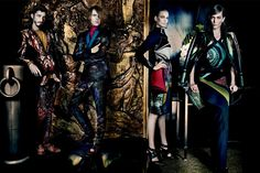 Aymeline Valade, Elisabeth Erm, Sung Hee Kim, Ton Heukels, Andres Risso & Nan Fulong for Etro Fall/Winter 2013/2014 by Mario Testino | The Fashionography