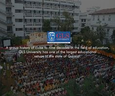 A group history of close to nine decades in the field of education, GLS University has one of the largest educational setups in the state of Gujarat.  #GLSUniversity