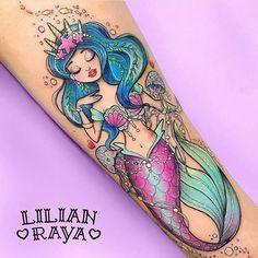 """966 curtidas, 8 comentários - Sereia Contemporânea (@sereiacontemporanea) no Instagram: """"@lilianraya #tattoo #inspiração"""""""