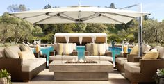 This outdoor space is beautiful. I especially love the firepit. Gorgeous!