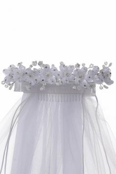 Elegant Crown Adorned with Flowers and Rhinestones
