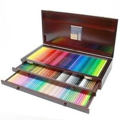 Holbein Artists Colored Pencil set of 150 colors in Wooden Box