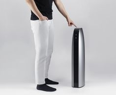 The Blow is an air purifier with an added energy-saving air heater function. Two cylindrical fans are arranged vertically inside, absorbing air from the back and expelling it in front. Inside the front grill is an instant heating module to adjust the temperature before expelling purified air. Thanks to the optimized design to the internal structure, it has a strong performance in spite of its small size.   The parting lines where black and silver meet are perpendicular when seen from the…