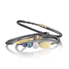 Christine Mackellar - Black Pearl Twig Bracelet Group
