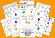 Fraction Frenzy!  (30 pages, 8 centers, $7.00)