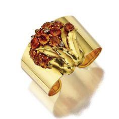 DIAMOND CUFFS AND BANGLES PINTEREST | GOLD, CITRINE QUARTZ AND DIAMOND CLIP/BANGLE COMBINATION, CARTIER ...
