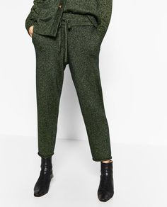 Image 2 of GREEN TROUSERS from Zara