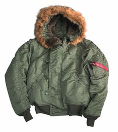 90216768a Alpha Industries N2B Parka Sage Green Short Waist www.BenNevisClothing.com  Disaster Preparedness,