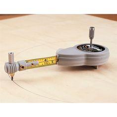 Rotape Beam Compass : compact, self-measuring beam compass draws circles or arcs http://www.woodcraft.com/product/141871/rotape-beam-compass.aspx