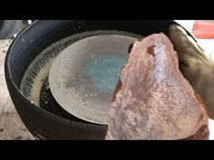 Stone surface grinding and polishing - YouTube