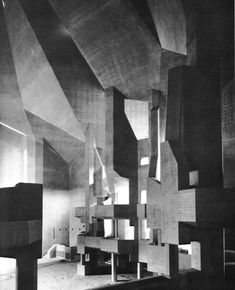 Brutalism Pilgrimage Church, Neviges, Germany, 1965-68