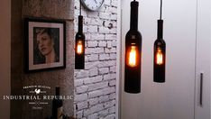 Wine Bottle Lamp  Lighting. Not sure if I would want these in my house, but I think they are interesting.